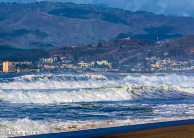 Big surf with Ventura in background-1-2